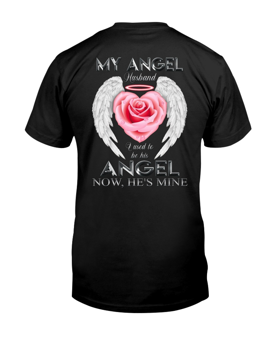 T-SHIRT - MY ANGEL HUSBAND - WINGS - HE'S MINE Classic T-Shirt