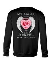 T-SHIRT - MY ANGEL HUSBAND - WINGS - HE'S MINE Crewneck Sweatshirt thumbnail