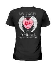 T-SHIRT - MY ANGEL HUSBAND - WINGS - HE'S MINE Ladies T-Shirt thumbnail
