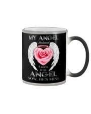 T-SHIRT - MY ANGEL HUSBAND - WINGS - HE'S MINE Color Changing Mug thumbnail