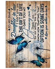 To My Daughter-in-law - Butterfly - Circus 16x24 Poster front