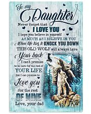 To My Daughter - Wolf - I Hope You Believe In  Vertical Poster tile
