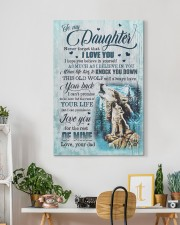 To My Daughter - Wolf - I Hope You Believe In  20x30 Gallery Wrapped Canvas Prints aos-canvas-pgw-20x30-lifestyle-front-03