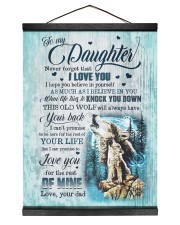 To My Daughter - Wolf - I Hope You Believe In  Hanging Canvas tile