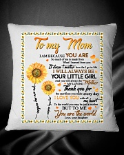 DAUGHTER TO MOM Square Pillowcase aos-pillow-square-front-lifestyle-34