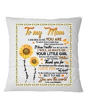 DAUGHTER TO MOM Square Pillowcase back