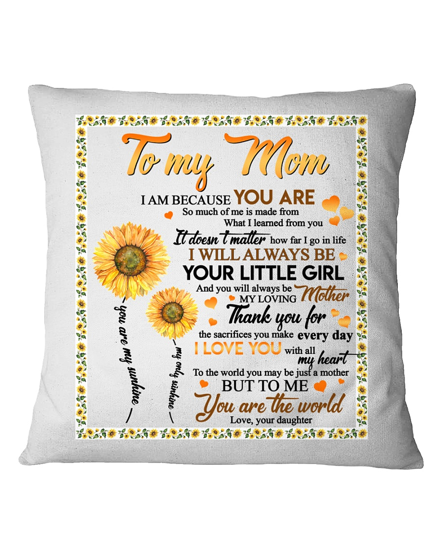DAUGHTER TO MOM Square Pillowcase