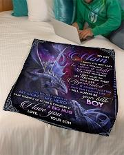 "To My Mom - Dragon - Fleece Blanket Small Fleece Blanket - 30"" x 40"" aos-coral-fleece-blanket-30x40-lifestyle-front-07"