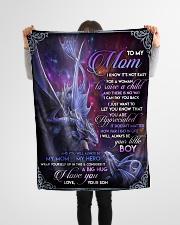 "To My Mom - Dragon - Fleece Blanket Small Fleece Blanket - 30"" x 40"" aos-coral-fleece-blanket-30x40-lifestyle-front-14"