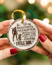 Christmas - To My Daughter - Today Is A good Day Circle ornament - single (porcelain) aos-circle-ornament-single-porcelain-lifestyles-08