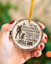 Christmas - To My Daughter - Today Is A good Day Circle ornament - single (porcelain) aos-circle-ornament-single-porcelain-lifestyles-09