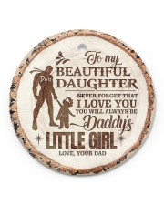 Christmas - To My Daughter - Today Is A good Day Circle ornament - single (porcelain) front