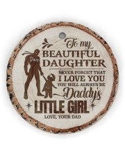 Christmas - To My Daughter - Today Is A good Day Circle Ornament (Wood tile