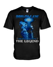 SON-IN-LAW - GOD - THE MAN THE MYTH THE LEGEND V-Neck T-Shirt thumbnail