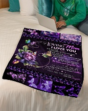 """TO MY LOVING MOM - BUTTERFLY Small Fleece Blanket - 30"""" x 40"""" aos-coral-fleece-blanket-30x40-lifestyle-front-07"""