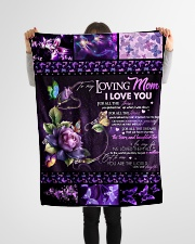 """TO MY LOVING MOM - BUTTERFLY Small Fleece Blanket - 30"""" x 40"""" aos-coral-fleece-blanket-30x40-lifestyle-front-14"""