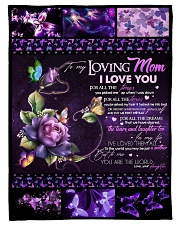 """TO MY LOVING MOM - BUTTERFLY Small Fleece Blanket - 30"""" x 40"""" front"""