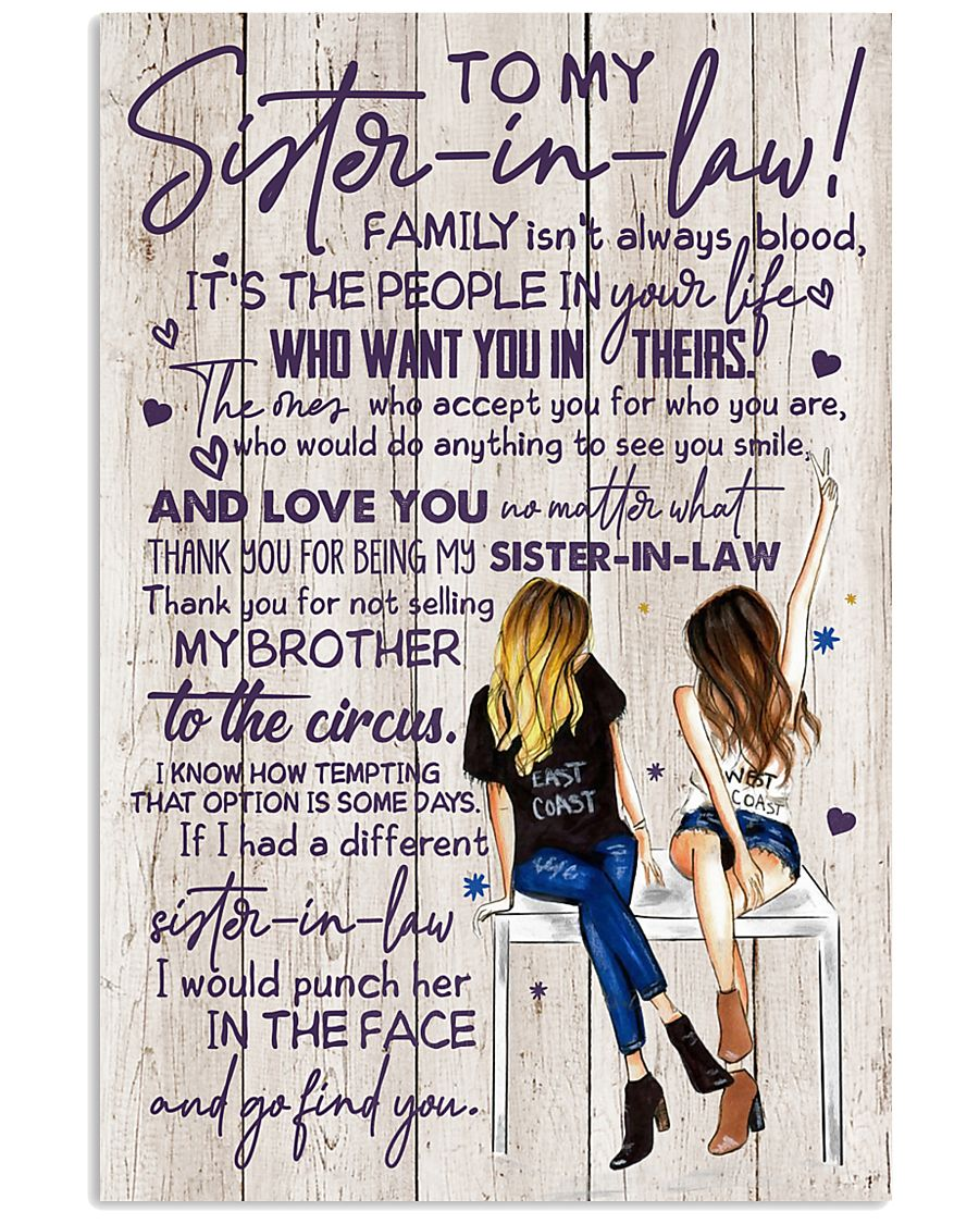 TO MY SISTER-IN-LAW - GIRLS - THANK YOU 11x17 Poster