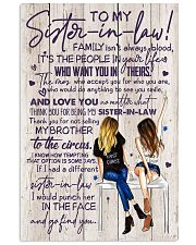 TO MY SISTER-IN-LAW - GIRLS - THANK YOU 11x17 Poster front