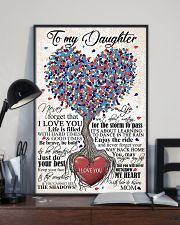 TO DAUGHTER - HEART - OUTGROW 16x24 Poster lifestyle-poster-2