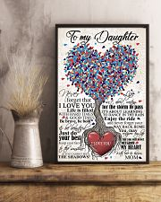 TO DAUGHTER - HEART - OUTGROW 16x24 Poster lifestyle-poster-3