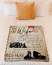 """Trucker - To Wife - I Know The Distance Is Hard  Small Fleece Blanket - 30"""" x 40"""" aos-coral-fleece-blanket-30x40-lifestyle-front-04"""