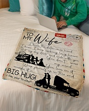 """Trucker - To Wife - I Know The Distance Is Hard  Small Fleece Blanket - 30"""" x 40"""" aos-coral-fleece-blanket-30x40-lifestyle-front-07"""