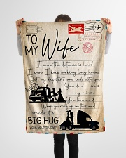 """Trucker - To Wife - I Know The Distance Is Hard  Small Fleece Blanket - 30"""" x 40"""" aos-coral-fleece-blanket-30x40-lifestyle-front-14"""
