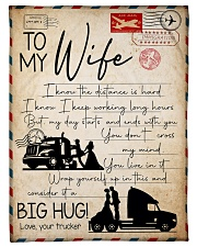 """Trucker - To Wife - I Know The Distance Is Hard  Small Fleece Blanket - 30"""" x 40"""" front"""