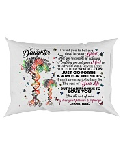MOM TO DAUGHTER Rectangular Pillowcase back