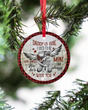 To My Angel Dad - Circle Ornament Circle ornament - single (porcelain) aos-circle-ornament-single-porcelain-lifestyles-07