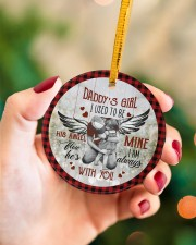 To My Angel Dad - Circle Ornament Circle ornament - single (porcelain) aos-circle-ornament-single-porcelain-lifestyles-09