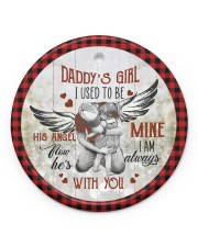 To My Angel Dad - Circle Ornament Circle ornament - single (porcelain) front