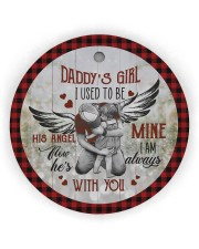 To My Angel Dad - Circle Ornament Circle Ornament (Wood tile