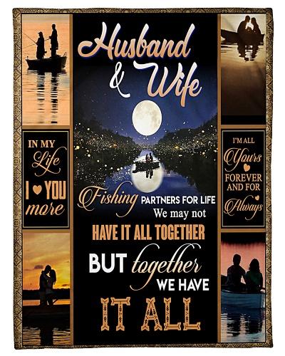 HUSBAND AND WIFE - FISHING - I LOVE YOU