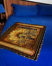 "Grandma to Granddaughter - Believe In Yourself  Small Fleece Blanket - 30"" x 40"" aos-coral-fleece-blanket-30x40-lifestyle-front-02"