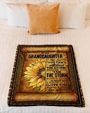 "Grandma to Granddaughter - Believe In Yourself  Small Fleece Blanket - 30"" x 40"" aos-coral-fleece-blanket-30x40-lifestyle-front-04"