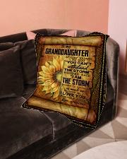 "Grandma to Granddaughter - Believe In Yourself  Small Fleece Blanket - 30"" x 40"" aos-coral-fleece-blanket-30x40-lifestyle-front-05"