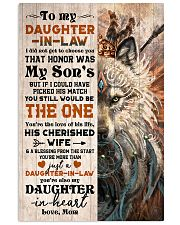 TO MY DAUGHTER-IN-LAW - FOX - HIPPIE - THE ONE 16x24 Poster front