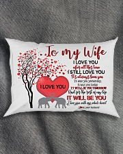 TO MY WIFE - LOVE TREE - I LOVE YOU Rectangular Pillowcase aos-pillow-rectangle-front-lifestyle-1