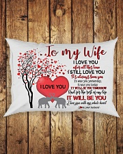 TO MY WIFE - LOVE TREE - I LOVE YOU Rectangular Pillowcase aos-pillow-rectangle-front-lifestyle-2
