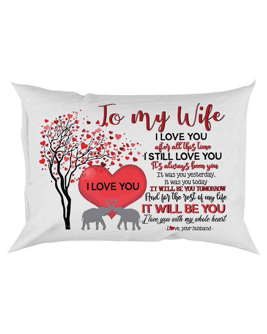 TO MY WIFE - LOVE TREE - I LOVE YOU Rectangular Pillowcase