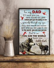 TO MY DAD - WOLF - IF I COULD YOU GIVE YOU 16x24 Poster lifestyle-poster-3