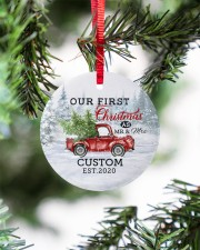 To My Wife - Christmas Truck - Our First Christmas Circle ornament - single (porcelain) aos-circle-ornament-single-porcelain-lifestyles-07