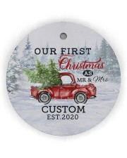 To My Wife - Christmas Truck - Our First Christmas Circle Ornament (Wood tile