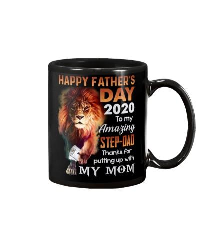 MUG - TO MY BONUS DAD - FATHER'S DAY - LION