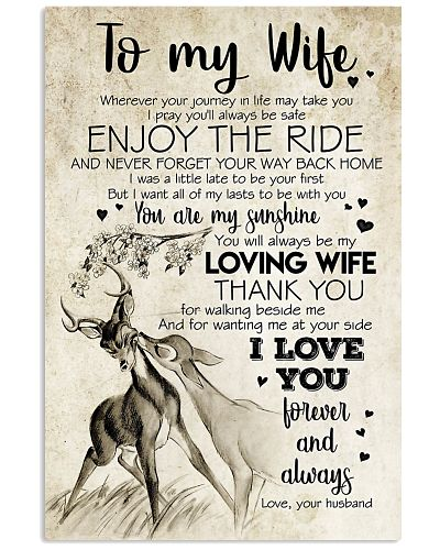 POSTER - TO MY WIFE - HUNTING - I LOVE YOU