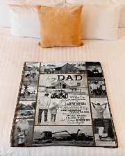"To My Dad - Fleece Blanket   Small Fleece Blanket - 30"" x 40"" aos-coral-fleece-blanket-30x40-lifestyle-front-04"