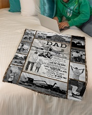 "To My Dad - Fleece Blanket   Small Fleece Blanket - 30"" x 40"" aos-coral-fleece-blanket-30x40-lifestyle-front-07"