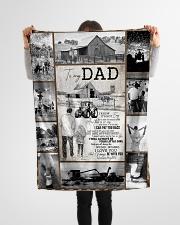 "To My Dad - Fleece Blanket   Small Fleece Blanket - 30"" x 40"" aos-coral-fleece-blanket-30x40-lifestyle-front-14"